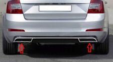 SKODA SUPERB MK3 2015-2018 CHROME METAL EXHAUST DEFLECTOR FRAME 2 PCS S.STEEL