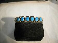 ~Vintage Southwest Marked Sterling Turquoise Twisted Cuff Bracelet~