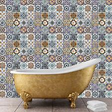 Mediterranean Tiles Wall Stickers Pattern Self Adhesive Wallpaper