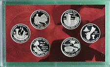 2009 Proof 90% Silver Quarter Set DC and US Territories 6 COINS ONLY without Box