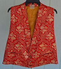 "VTG BIG E LEVI'S 48"" Chest XL Short Horn Poker Dealer Gambler Western Vest Red"