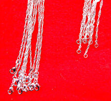 "10PC 16"" Wholesale Jewelry 925 Silver Plated ""Water Wave"" Chain Necklace Pendant"