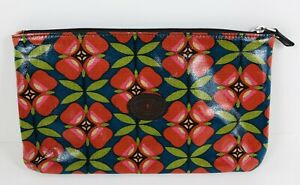 Fossil Key Per Floral Zipper Coated Canvas Cosmetic Pouch Clutch Bag Case