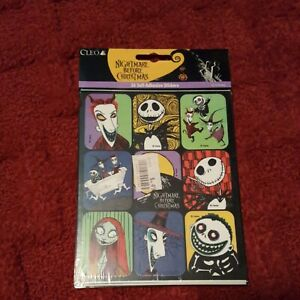 Disney stickers Nightmare Before Christmas 4 sheets  36 total per pack vintage
