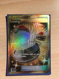 Carte Pokemon Italiano Scambio Fuoriserie Gold Ultra Rara 160/149 Sole E Luna