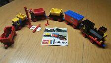 LEGO 12V Eisenbahn Zug 180 mit 5 Waggons +BAL/Train 180 w. 5 Wagons +instr 1972