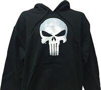 Marvel Punisher War Zone Frank Castle Skull Logo Men's Hooded Sweatshirt