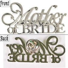Mother of the Bride Silver Pin Wedding Decoration Party Gift Pendant Brooch
