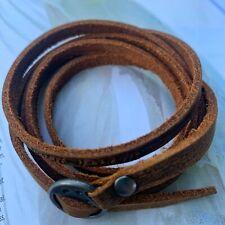 Bracelet Cuir Marron Boucle - Homme Protection Tendance Force -
