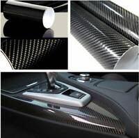 5D Black Car Ultra Shiny Gloss Glossy Cool Carbon Fiber Vinyl Wrap Sticker Decal