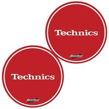 Slipmats Technics DMC speedmat rouge/rouge (1 paire / 1 pair) mrspeed NEUF