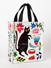 "Chow Time Blue-Q Handy Tote New Re-Usable Bag 10""h x 8.5""w x 4.5""D Cat Fashion"