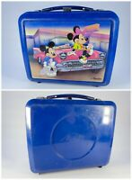 ORIGINAL Vintage 1988 Aladdin Mickey Minnie Mouse 50s Diner Plastic Lunch Box