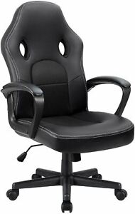 Furmax Office Desk Leather Gaming, High Back Ergonomic Adjustable Racing Task Sw