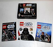 2011 Lego Books ~ Star Wars Collection ~ The Visual Dictionary ~ 3 Book Set