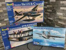 1:72 Set Wasserflugzeuge He115 / Stranraer / Saunders Roe A.19 Cloud (Revell +)