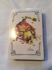 VINTAGE TRUMP NORMAN ROCKWELL OLD COUPLE SITTING PLAYING CARDS DECK SEALED