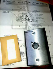 Clear-Com WP-6 Two Channel Wall Plate, 6 pin male XLR NOS