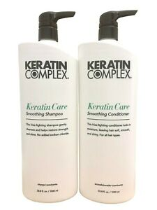 Keratin Complex Care 1 Litre Conditioner & Shampoo inc Pumps NEW PACKAGING