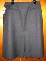 0d675ef11f Talbots Petites A-Line Gray SKIRT 100% Italian Wool Size 10P Slit Lined $118