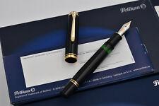 PELIKAN M1000 Souverän Black Fountain Pen 987 369 Germany 18C - 750 BB PF