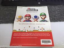 Lot Publicité Super Mario Bros Nintendo Wii