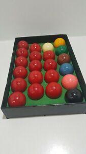 """Set of 22 Snooker Balls 2"""" diameter boxed full set"""