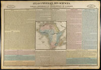 1837 - Carta geografiche antica Africa Incisione. Da Duval
