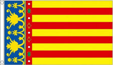 VALENCIA FLAG W/ RED & YELLOW STRIPES IN 5X3 - SPAIN SPANISH PROVENCE FLAG