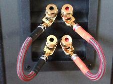 Pair Mogami Audiophile Bi-Wire Speaker Jumper Cables Nakamichi Spade to Spade