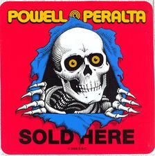 Powell Peralta Ripper vendus ici Autocollant 09 Skateboard concessionnaire Double Face Vitre