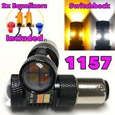 Rear Signal 1157 2057 BAY15D P21/5W 3496 Switchback white Amber LED Light B1 #12