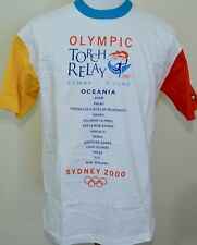 Sydney 2000 Olympics Torch Relay t-shirt med./large vintage Australia Oceania