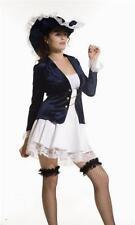 Disfraz De Pirata Caribeña Con Lencería Azul Para Damas Talla 36-40