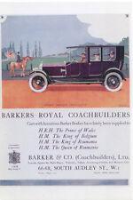 Rolls Royce Barkers Royal Coachbuilders MODERN postcard
