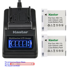Kastar Battery LCD Quick Charger for Canon NB-11L Canon PowerShot A2300 A2300 IS