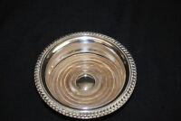 Antique Barker-Ellis English Silver Plate & Wood Wine Bottle Champagne Coaster