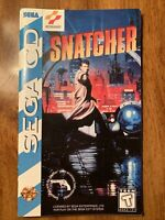 SNATCHER Custom Replacement Game Instruction Manual Only For Sega CD