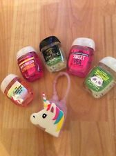 Bath and body works Antibacterial Hand sanitizer x 5 with Unicorn holder