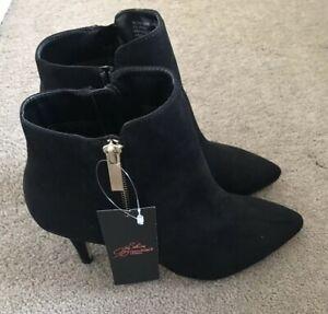 Brand New Carvela Kurt Geiger Black High Heel Ankle Boots Size 4(eu 37)