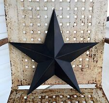 Primitive Metal Barn Star Black 18 inch Country Rustic Farm Decor