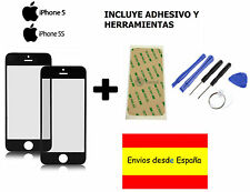 CRISTAL EXTERIOR PANTALLA FRONTAL + ADHESIVO + HERRAMIENTAS IPHONE 5 5S 5C NEGRO