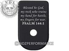for Glock 42 G42 Aluminum Floor Base Magazine Mag Plate Blk Bible Psalm 144:1