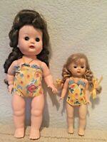 Vintage Nancy Ann Storybook Walker Dolls Debbie and Muffie in Swimsuits XC