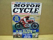Vintage Motor Cycle World Magazine Aug 1968 Harley Wild Child BSA Bultaco
