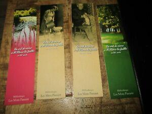 Marque pages collectors-Lot -Thème,série les mots passant