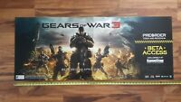 GEARS OF WAR 3 Video Game Store Display HUGE Ceiling Sign 2011 XBox 360 Promo