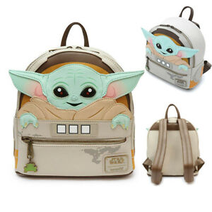 Star Wars Baby Yoda Loungefly Faux PU Leather Mini Backpack Bag RuckSack