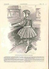 Paris Pianiste Compositeur de Trois Ans Pepito Ariola Musique Piano GRAVURE 1900