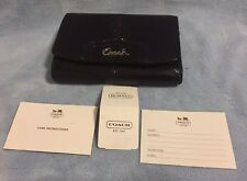Coach Ashely Mahogany Patent Leather Compact Clutch Folio Wallet F48248